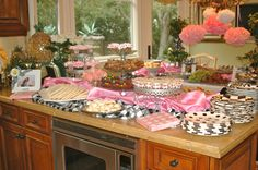 Love the linens around the food, great for a bridal shower or engagement party