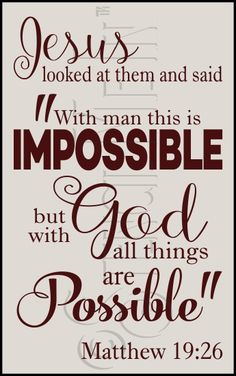 With God All Things Are Possible Scripture Typography Stencil | Stencil Me In