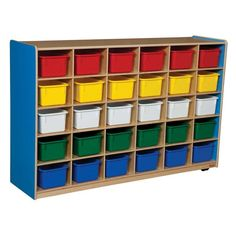 Wood Designs 30 Tray Colors Storage Blueberry - Assorted Colors Bin Color - WD16033B