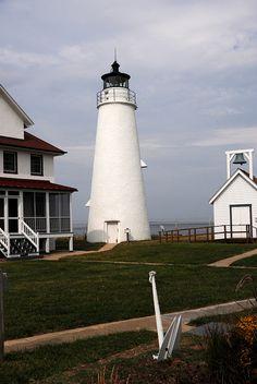 Cove Point Lighthouse~1749~ Chesapeake Bay~Maryland