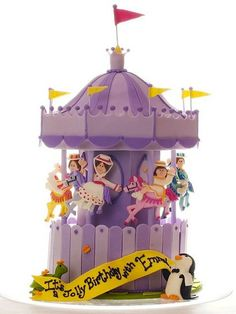 Adorable Mary Poppins carousel cake.