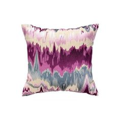 Seismograph Plum Pillow Square ($170) ❤ liked on Polyvore featuring home, home decor and throw pillows