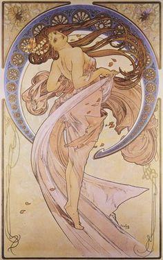 The Four Arts: Dance Fine-Art Print by Alphonse Mucha at UrbanLoftArt.com