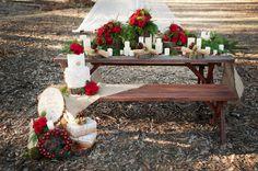 Rustic Pinecone Wedding Decorations
