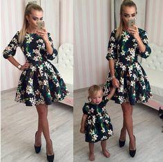 Nueva llegada del verano una línea Floral Vestidos de manga larga Jersey de impresión mujeres del vestido sexy de moda Mini sin Vestidos del bebé en Vestidos de Moda y Complementos Mujer en AliExpress.com | Alibaba Group
