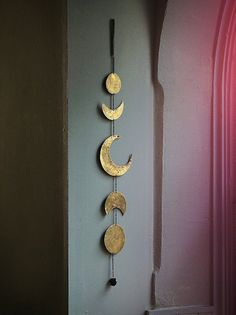 Golden Moon Phases Wall Decor  This was my most popular item & more than 100 sold out in ONE WEEK! Due to popular demand, I am taking strictly