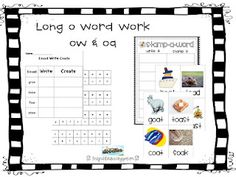 Long o word work  First Grade Fanatics