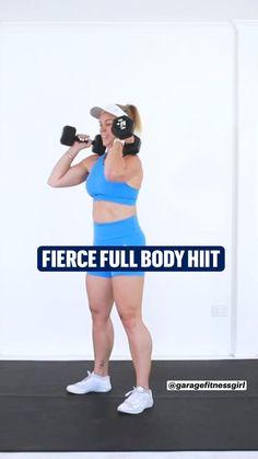 Best Workout Schedule, Core Workout Challenge, Hiit Workout Routine, Full Body Hiit Workout, Hiit Workout At Home, Mommy Workout, Fitness Workout For Women, Dumbbell Workout, Workout Videos