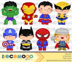 Superheroes Clipart - Superhero Clip Art - Cute Superhero - Free SVG on Request