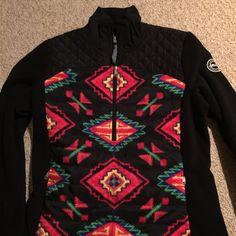 Ralph Lauren fleece Fleece with patterned, quilted front. Too damn hot for this freaky NY winter. Never worn. Ralph Lauren Tops Sweatshirts & Hoodies