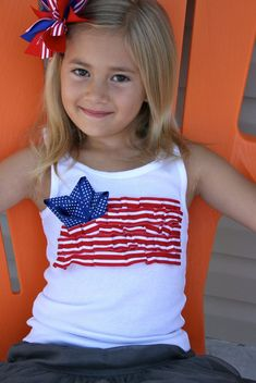 4th of july shirt tutorial  @Angela Gray Gray Gray Hampt (Grandma, Moosey says she thinks you can make these :) I think so too, the question is can you have them done in a week???)