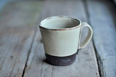 Rustic Handbuilt Mugs - Available in 4 Colors, via Etsy.