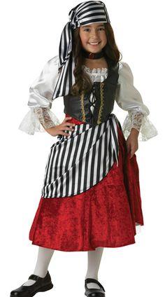 Kid's Pirate Girl Halloween Costume