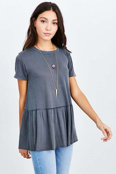 b5fe907b19e Truly Madly Deeply Dusty Road Peplum Tee - Urban Outfitters  39 Fall Outfits