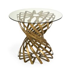 Gold Leaf Swirl Art Metal Side Table, sharing luxury designer home decor inspirations and ideas for beautiful living rooms, dinning rooms, bedroom