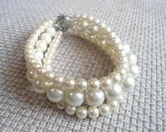 Hey, I found this really awesome Etsy listing at https://www.etsy.com/listing/198275490/ivory-pearl-bracelet-pearl-bracelet3