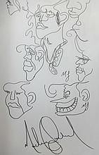 MICHAEL JACKSON DRAWING: MULTIPLE HUMAN EXPRESSIONS.