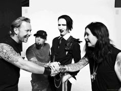 James Hetfield, Fred Durd, Marilyn Manson, Ozzy Osburne.