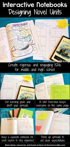 Using Interactive Notebooks to teach class novels can be rigorous and engaging, even for middle and high school. Here are some tips and tricks for setting up your novel units. Read more at Teaching Literature, Teaching Reading, Teaching Tools, Teaching Resources, Teaching Class, Teaching Themes, Reading Lessons, High School Literature, Ap Literature