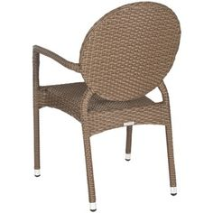 Safavieh Valdez Brown Indoor Outdoor Stackable Arm Chair (Set of 2) - Overstock™ Shopping - Great Deals on Safavieh Dining Chairs