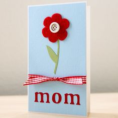 Do you want show your mother how much she really means to you? There are many ways you can do this, but there's nothing like a homemade card that comes from your heart! <3