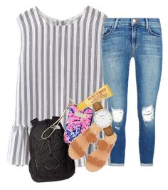 """""""Back to school"""" by southern-belle02 ❤ liked on Polyvore featuring J Brand, The North Face, Jack Rogers, Lilly Pulitzer, Burt's Bees and CLUSE"""
