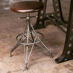 "586 Likes, 10 Comments - Vintage Industrial (@retrodotnet) on Instagram: ""Our new Rebar stool... #vintageindustrial #interiordesign #interiordesigner #furnituredesign…"""