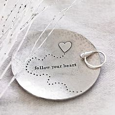 'Follow Your Heart' Trinket Dish - decorative accessories