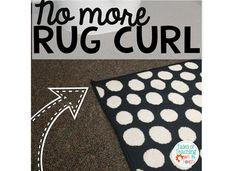 Teacher Hack, classroom rug, rug curl,