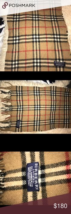 Burberry Scarf Got a few years ago but still in great condition ! Burberry Accessories Scarves & Wraps