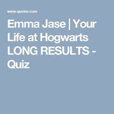 Harry Potter Hookup Quiz Long Results