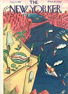 The New Yorker - Saturday, August 2, 1930 - Issue # 285 - Vol. 6 - N° 24 - Cover by : Julian de Miskey