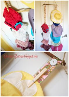 An Easy DIY Hat Holder -- we SO need one of these! Too many brimmed hats that won't/don't stack!
