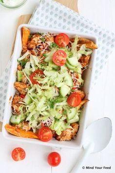 Kyckling shawarma maträtt med sötpotatis - Mind Your Feed Healthy Cooking, Healthy Eating, Cooking Recipes, Healthy Recipes, Diner Recipes, Best Dinner Recipes, I Love Food, Good Food, Sweet Potato Oven