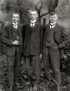Country Lads from the Westerwald, by August Sander, 1912.