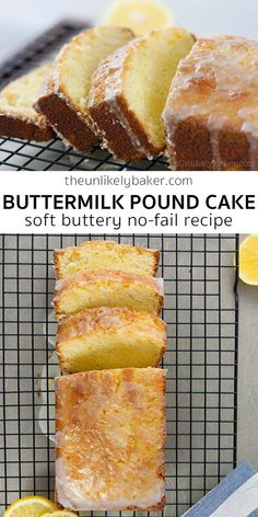 Soft buttery and so delicious. This old fashioned buttermilk pound cake is a classic for a reason! Perfect for Easter . Easy Loaf Cake Recipe, Quick Bread Recipes, Pound Cake Recipes, Best Dessert Recipes, Cupcake Recipes, Low Carb Recipes, Great Recipes, Cookie Recipes, Cupcake Cakes
