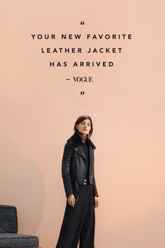 """Destined for street greatness"" -VOGUE. Our best selling jacket is the leather moto you've always been dreaming of."