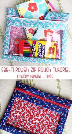 zip pouch tutorial