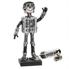 """©Reboot, the Robot Statue. 3.5"""" W x 3.5"""" D x 10.5"""" H"""