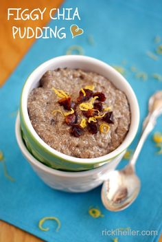 Figgy Chia Pudding -easy, grain-free breakfast or dessert! Sugar-free, dairy-free, vegan.