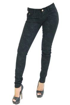 NEW LADIES SKINNY FIT STRETCHY JEANS PRINTED WOMENS JEGGINGS TROUSERS ONE SIZE