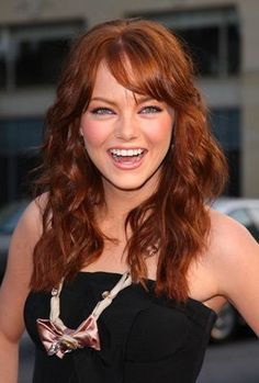 emma stone. I want my hair to look like this... soft curls!