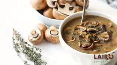 Warm-up with a deliciously, plant-based Creamy Mushroom Soup. Creamy Mushroom Soup, Mushroom Soup Recipes, Creamy Mushrooms, Stuffed Mushrooms, Stuffed Peppers, Vegan Soups, Vegetarian Recipes, Cooking Recipes, Healthy Recipes