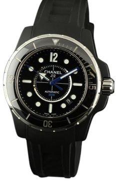 Chanel J12 H2558 Marine Black Ceramic Rubber 42mm Watch.