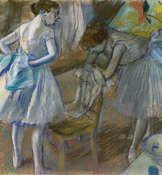 Edgar Degas (1834-1917), Two Ballet Dancers in a Dressing Room, 1880. The National Gallery of Ireland, Dublin