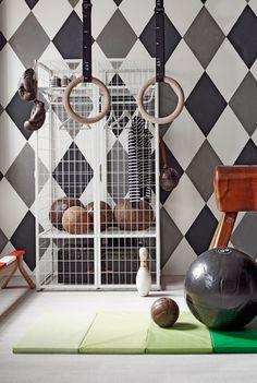 playful styling for kids vt wonen Cleo Scheulderman /Alexander van Berge Gym Decor, Kids Decor, Nursery Room, Kids Bedroom, Baby Room, Gymnastics Bedroom, Gym Room, Ikea, Blog Deco