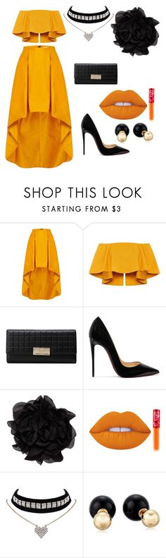 """shine"" by anjola112 on Polyvore featuring Christian Louboutin, Lanvin, Lime Crime and Betsey Johnson"
