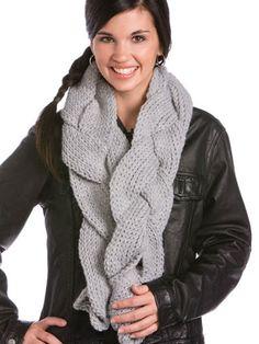 Seasonal Crochet - Winter Crochet Patterns - Free Crochet Pattern -- Braided Scarf