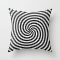 Swirl in Black and White Throw Pillow by colinforrest