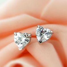 Women's Refinement Silver  Zircon Earrings – USD $ 2.99
